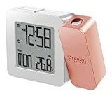 Oregon Scientific RM 338P - Réveil avec projection de l'heure et température intérieure rose