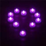 Oshide Submersible Léger étanche LED Bougie Lampe Pack de 12, Lumière de Thé, Mariage ou Autre Soirée (Rose)