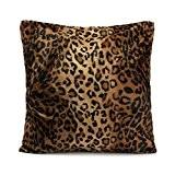 OULII Carré/Rectangle Leopard Animal imprimé peluche coussin rembourrage peluche courte jeter coussin garniture pour manger chambre cuisine chaise arrière siège ...