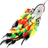 Ouneed® Multicolore Plume Goutte Cercle de Attrape-rêves Chambre Decr (Milticolore)