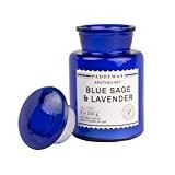 Paddywax-Bleu-Collection apothicaire Luxe Fine Bougie parfumée en cire de soja-Artisan-Coulée à-60Heures-Recyclable Bleu Bouteille apothicaire-Bleu Sauge & Lavande