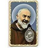 Padré Pio - Carte médaille avec prière - Livraison gratuite