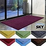 Paillasson d'entrée casa pura® Sky 100% polyamide, antidérapant | absorbant, résistant | 7 couleurs, 2 tailles | violet, 85x150cm
