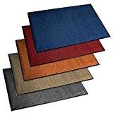 Paillasson d'entrée etm® série PREMIUM | fortement absorbant + lavable | plusieurs tailles et couleurs au choix | bleu 60x90cm