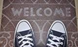 Paillasson tapis/paillasson/entrée/paillasson/Tapis Anti-Poussière modèle Sneakers Chaussures/Welcome/humoristique drôle Dimensions?: env. 45x 70cm Paillasson pour portes d'entrée/paillasson passwor