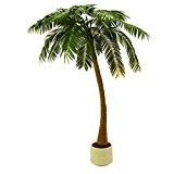 Palmier artificiel areca avec un tronc courbé, 810 feuilles, 300 cm, résistant aux intempéries - faux palmier / grand arbre ...