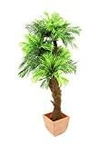 Palmier artificiel Areca, tronc en fibre de raphia, 115 cm - palmier en pot / plante artificielle palmier - artplants