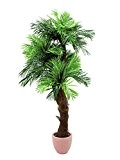 Palmier artificiel Areca, tronc en fibre de raphia, 170 cm - palmier en pot / plante artificielle palmier - artplants