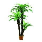 Palmier artificiel, Cycas du Japon, 43 feuilles, 3 troncs, 160 cm - faux palmier / cocotier artificiel - artplants