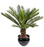 Palmier artificiel Cycas tronc - plante intérieur extérieur - H.90 cm vert - taille : 90 cm