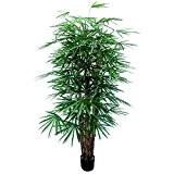 Palmier artificiel Rhapis excelsa, 1080 feuilles, troncs naturels, 180 cm - arbre artificiel / faux palmier - artplants