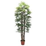 Palmier artificiel Rhapis excelsa avec 5 troncs naturels, 180 cm - palmier décoratif / arbre artificiel - artplants