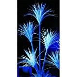 Palmier artificiel, Yucca, 4 troncs, UV-blanc, 180 cm - faux palmier / réagi à la lumière noire - artplants