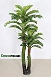 Palmier Cocotier Plante Arbre Artificielle Artificiel 140cm Decovego