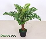 Palmier Fougère Plante Artificielle Artificiel 65cm Decovego