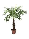 Palmier royal artificiel avec un tronc en fibres de palmier, 12 feuilles de palmier, 100 cm - palmier en pot ...