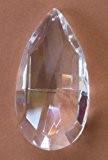 pampille en cristal taillé 50mm avec des facettes - pour lustres - décoration