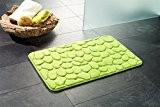 Pana ® lONDON tapis de salle de bain en mousse à mémoire de forme-couleur: vert-dimensions: 50 x 80 cm