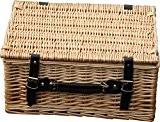 Panier à linge en osier avec couvercle Taille M vide 40,6cm–Livraison gratuite au Royaume-Uni
