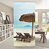 Panneau-rideau Beach of Dreams 250x120cm | support au choix panneau japonais rideau coulissant panneau-rideau séparateur d'espace paravent tableau mural déco ...