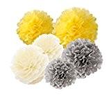 papier fleur pompon boule à suspendre Hanging Tissue Paper Pom Pom 12pcs 10inch 8inch Paper Flowers Rose Haning Decoration Balls ...