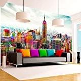 Papier peint intissé 400x280 cm - 3 couleurs au choix - Top vente - Papier peint - Tableaux - muraux ...