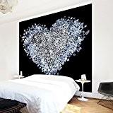 Papier peint intissé Premium - Diamond Heart - Mural Carré papier peint photo intissé tableau mural photo