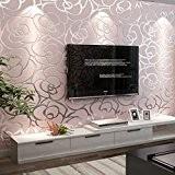 Papier peint non-tissé chambre salon TV fond d'écran fond d'écran roses roses salle de mariage , pink