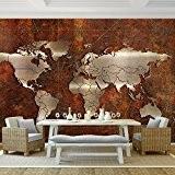 Papier peint photo non tissé 352x 250cm–Runa. carte du monde papier peint photo mural XXL Décoration Murale image papier peint ...