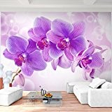 Papier peint photo non tissé 352 x 250 cm – Runa. Orchidée Papier peint photo mural XXL Décoration Murale image papier peint photo papier ...