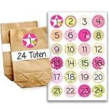 Papierdrachen Mini kit de calendrier de l'Avent N°14 avecautocollants et sachets