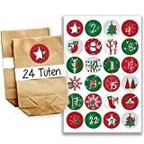 Papierdrachen Mini kit de calendrier de l'Avent N°15 avecautocollants et sachets