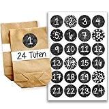 Papierdrachen Mini kit de calendrier de l'Avent N°16 avecautocollants et sachets
