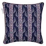 Paul & Joe by Madura Housse de Coussin MAYFLOWER Bleu/Rouge 40 x 40 cm