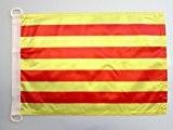 PAVILLON NAUTIQUE CATALOGNE 45x30cm - DRAPEAU DE BATEAU CATALAN 30 x 45 cm - AZ FLAG