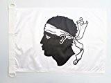 PAVILLON NAUTIQUE CORSE 45x30cm - DRAPEAU DE BATEAU CORSE - FRANCE 30 x 45 cm - AZ FLAG