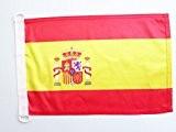 PAVILLON NAUTIQUE ESPAGNE 45x30cm - DRAPEAU DE BATEAU ESPAGNOL 30 x 45 cm - AZ FLAG