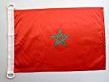 PAVILLON NAUTIQUE MAROC 45x30cm - DRAPEAU DE BATEAU MAROCAIN 30 x 45 cm - AZ FLAG