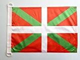 PAVILLON NAUTIQUE PAYS BASQUE 45x30cm - DRAPEAU DE BATEAU BASQUE 30 x 45 cm - AZ FLAG