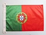 PAVILLON NAUTIQUE PORTUGAL 45x30cm - DRAPEAU DE BATEAU PORTUGAIS 30 x 45 cm - AZ FLAG