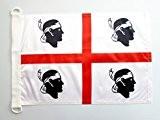 PAVILLON NAUTIQUE SARDAIGNE 45x30cm - DRAPEAU DE BATEAU SARDE - ITALIE 30 x 45 cm - AZ FLAG