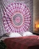 Peacock Mandala Tapisserie, Indian Hippie tenture, Bohemia couvre-lit, couverture Mandala coton plage Dorm Decor Par Rajrang