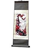 Peinture asiatique sur soie - kakemono meihua - décoration murale