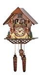 Pendule à coucou à quartz Maison de Forêt Noire avec musique, danseurs tournants, piles incluses TU 469 QMT HZZG