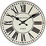 perla pd design Horloge murale de cuisine rétro Motif Chanvin Paris Env. Ø 28cm