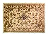 Petit Modèle Classic Floral Oriental Tapis traditionnel de Style persan Tapis de couloir-Beige - 60 cm x 110 cm