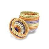 Petit panier de rangement avec couvercle–Tressé–Commerce équitable–Panier de Pâques