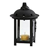 Photophore, Chandelier, Bougeoir, lampe de jardin Lanterne en noir pour bougies chauffe-plats et petites bougies pilier