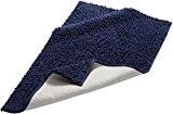 Pinzon by Amazon Tapis de bain en coton chenille, bleu foncé, 53 x 86 cm