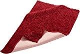 Pinzon by Amazon Tapis de bain en coton chenille, rouge, 53 x 86 cm